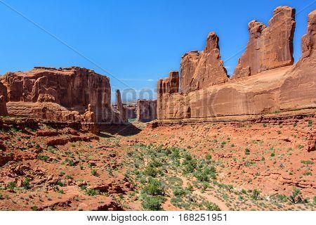 Park Avenue Overview, Arch National Park, Moab, Utah USA