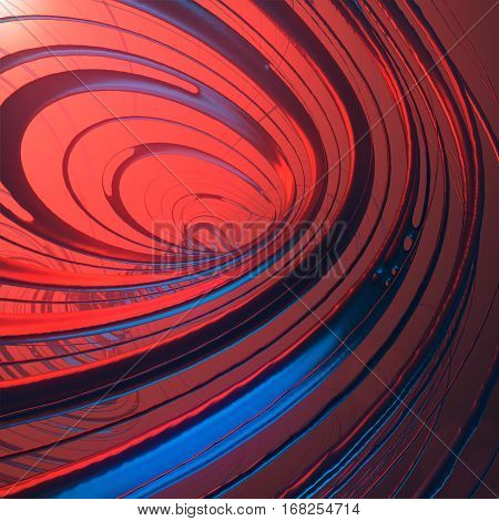 Abstract art streaks effect background. 3d rendering