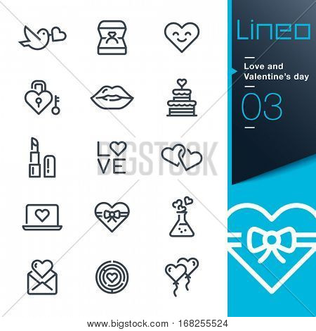 Lineo - Love and Valentineâ??s day line icons