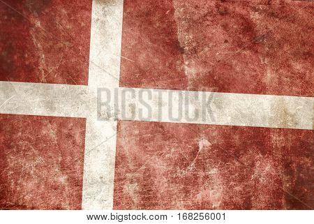 background of Grunge Denmark flag in color
