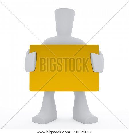 3-D character keep golden card