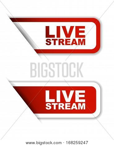 live stream sticker live stream red sticker live stream red vector sticker live stream set stickers live stream design live stream sign live stream live stream eps10