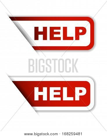 help sticker help red sticker help red vector sticker help set stickers help design help sign help help eps10