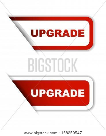 upgrade sticker upgrade red sticker upgrade red vector sticker uppgrade set stickers upgrade design upgrade sign upgrade upgrade eps10
