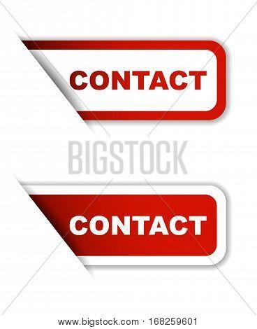contact sticker contact red sticker contact red vector sticker contact set stickers contact design contact sign contact contact eps10