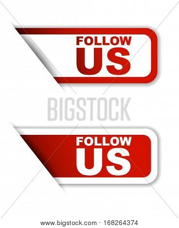 follow us sticker follow us red sticker follow us red vector sticker follow us set stickers follow us design follow us sign follow us follow us eps10