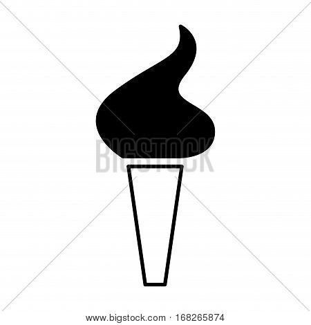 olimpic torch isolated icon vector illustration design