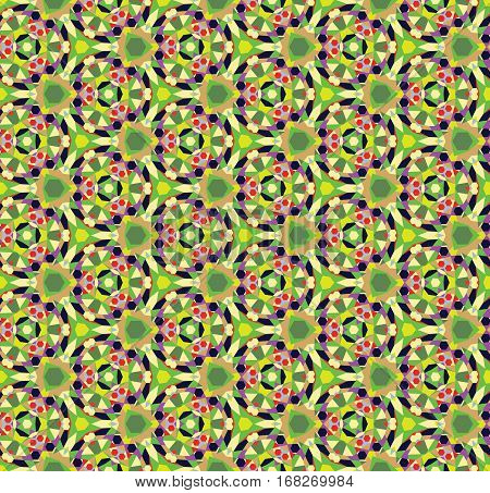 Color kaleidoscope background - the vector color illustration (not seamless)