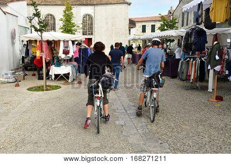 Le Bois Plage en Re France - september 27 2016 : the picturesque village in autumn