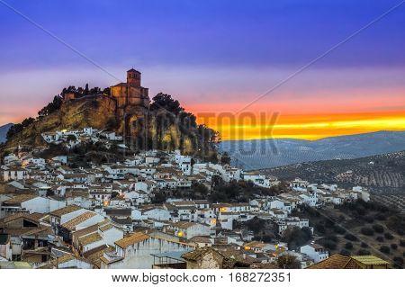 View Over Montefrio In Granada, Spain