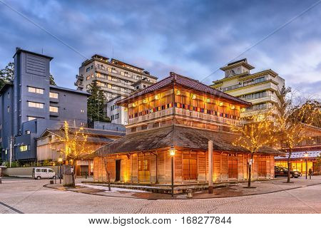 Kaga Onsen, Japan at the Yamashiro Onsen hot springs resort district.