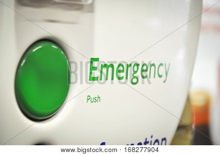 In case of emergency push the green button