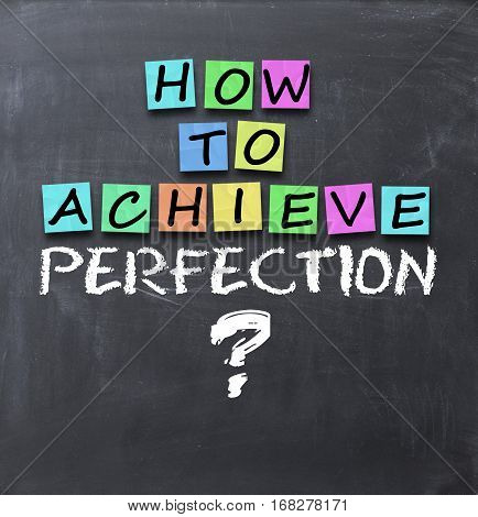 How to achieve perfection question on blackboard with adhesive notes