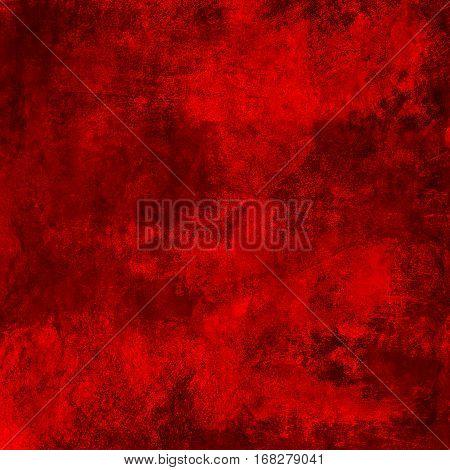 Red grunge textured wall background dark cracky