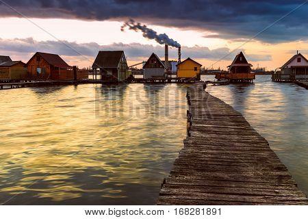 Sunset Lake Bokod