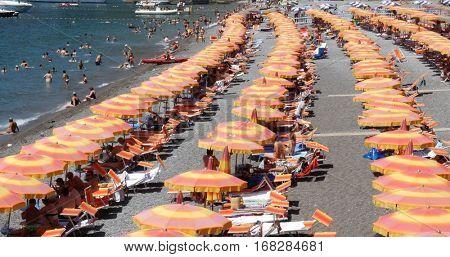 POSITANO, ITALY - CIRCA JULY 2016: Positano, Amalfi Coast, Italy