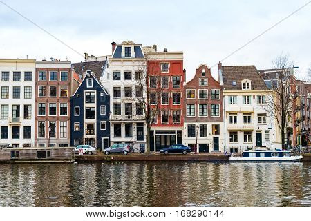 Street View In Amsterdam Historical City Center