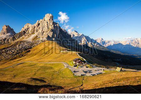 La Gusela Nuvolau gruppe South Tirol dolomites mountains Passo Giau Dolomites Italy