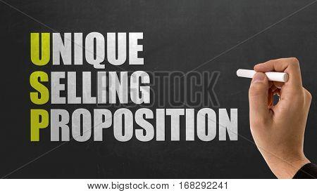 USP - Unique Selling Proposition poster
