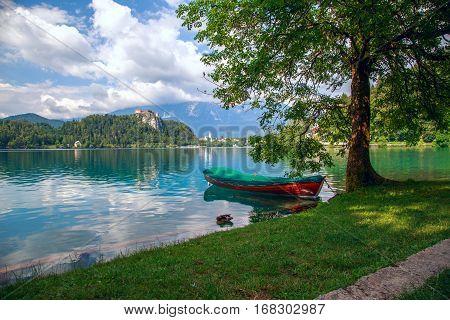 Boats At Lake Bled, Slovenia.