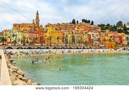 The Colorful Old Town Menton On French Riviera