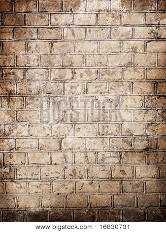 old red large brick wall