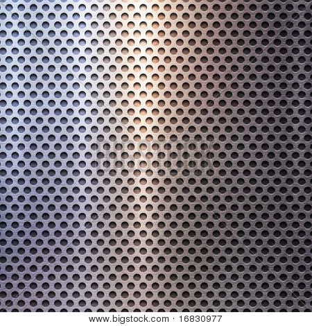 polished metal grid background
