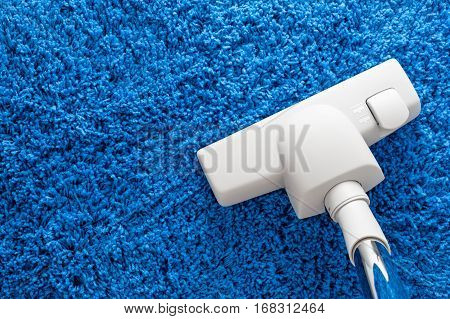 cleaning home with vacuum cleaner, housework concept