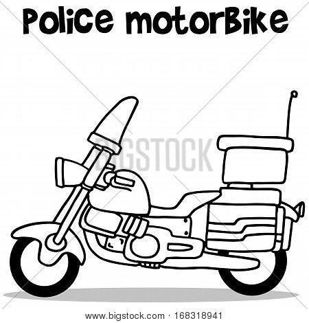 Police motor of transport vector art illustration