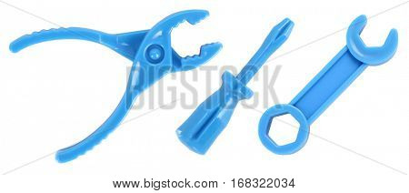 Toy tools pliers screwdriver wrench