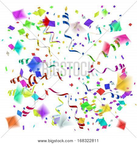 confetti blast in different directions vector illustration