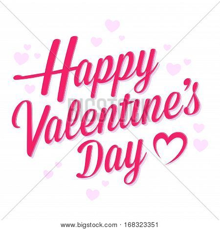 Vector stock of happy valentines lettering greeting background