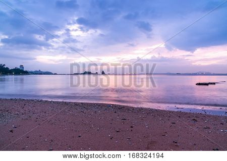The atmosphere during sunset at Koh Loi SrirachaChonburiThailand