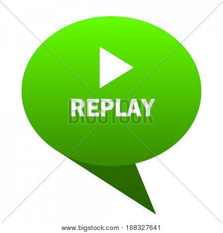 replay green bubble web icon