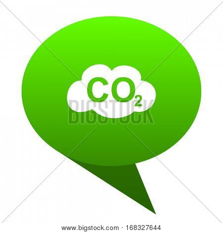 carbon dioxide green bubble web icon