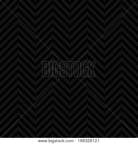 Black Chevron Pixel art Pattern. White Neutral Seamless Pattern for Modern Design in Flat Style. Tileable Geometric Vector Background.