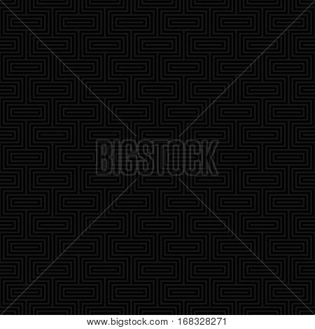 Black Classic seamless pattern. Neutral tileable linear vector background.
