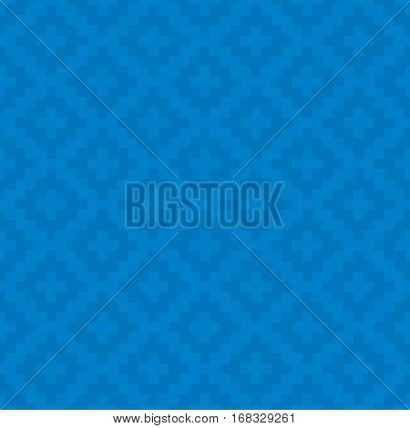 Blue Squares Pixel Art Pattern. Checked Neutral Seamless Pattern for Modern Design in Flat Style. Tileable Geometric Vector Background.