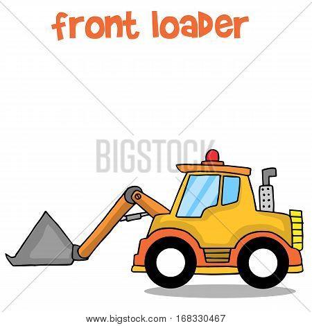 Front loader collection stock transportation vector art