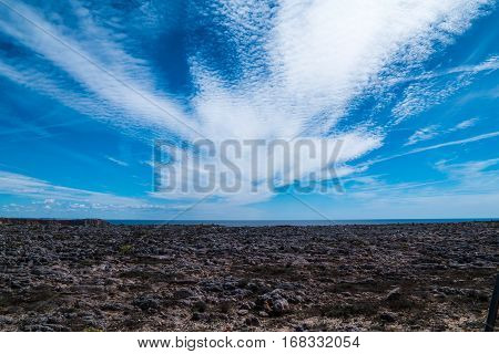 Portugal - White Clouds In Blue Sky