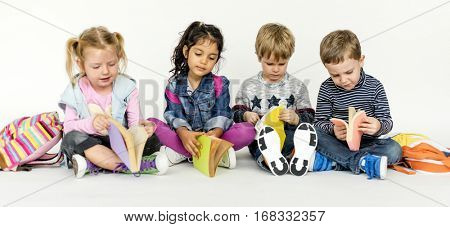 Kids Learning Education Studying Classmates