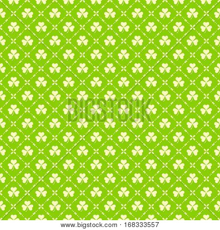 Green Clover Background For St. Patricks Day