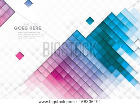 Vector of abstract geometric element and background