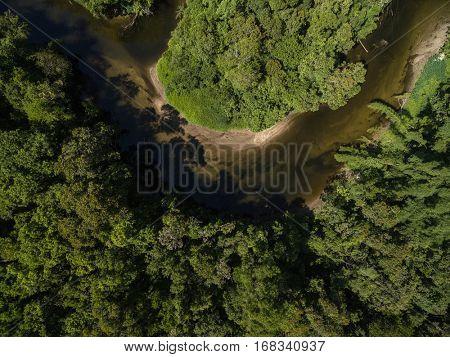 Top View of Amazon River, Brazil