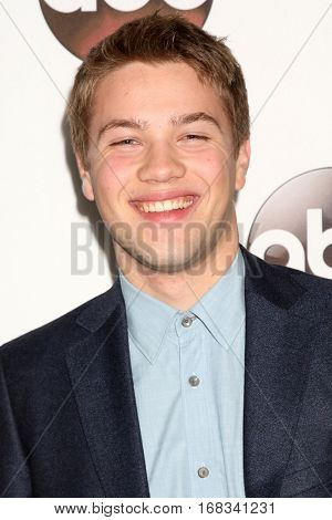 LOS ANGELES - JAN 10:  Connor Jessup at the Disney/ABC TV TCA Winter 2017 Party at Langham Hotel on January 10, 2017 in Pasadena, CA