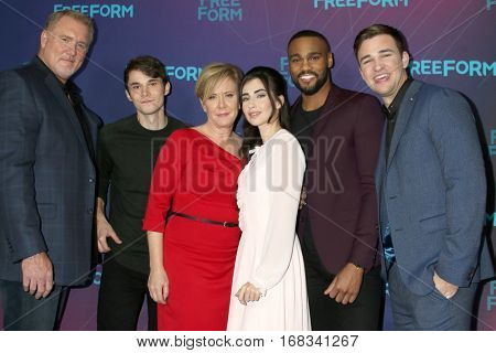 LOS ANGELES - JAN 10: Michael McGrady, Jonthan Whitesell, Romy Rosemont, Dilan Gwyn, Jeff Pierre, Burkely Duffield at the ABC TCA Winter 2017 Party at Langham Hotel on January 10, 2017 in Pasadena, CA