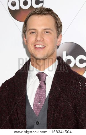 LOS ANGELES - JAN 10:  Freddie Stroma at the Disney/ABC TV TCA Winter 2017 Party at Langham Hotel on January 10, 2017 in Pasadena, CA