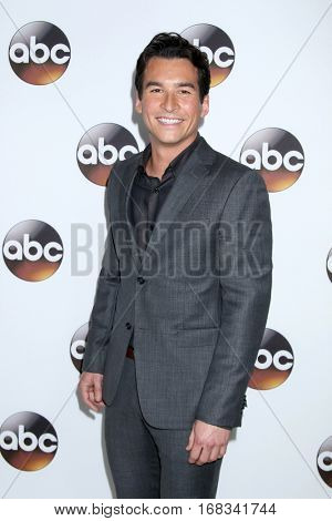 LOS ANGELES - JAN 10:  Jay Hayden at the Disney/ABC TV TCA Winter 2017 Party at Langham Hotel on January 10, 2017 in Pasadena, CA