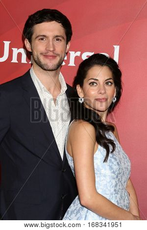 LOS ANGELES - JAN 17:  Rob Heaps, Inbar Lavi at the NBC/Universal Cable TCA Winter 2017 at Langham Hotel on January 17, 2017 in Pasadena, CA