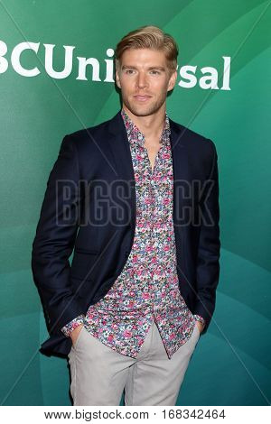 LOS ANGELES - JAN 17:  Kyle Cook at the NBC/Universal Cable TCA Winter 2017 at Langham Hotel on January 17, 2017 in Pasadena, CA